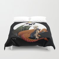 mother of dragons Duvet Covers featuring Mother of Dragons by LaPendeja