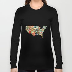 Geometric United States Long Sleeve T-shirt