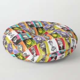 The Ghoulish Bunch Floor Pillow