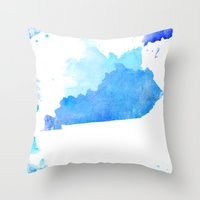 kentucky Throw Pillows featuring Kentucky Nocturne by Matthew Taylor Wilson