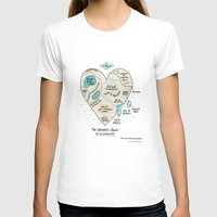 heart T-shirts featuring A Map of the Introvert's Heart by gemma correll
