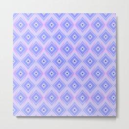 Triple Blue Square Metal Print