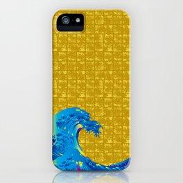 Hokusai Big Wave on Gold-leaf Screen iPhone Case