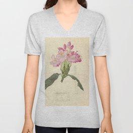 """Charles Rennie Mackintosh """"Flowers & Plants"""" (2) Unisex V-Neck"""