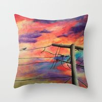 lonely Throw Pillows featuring Lonely by Erin Keating
