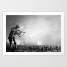 Peace Army print Art Print