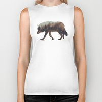 andreas preis Biker Tanks featuring Norwegian Woods: The Wolf by Andreas Lie