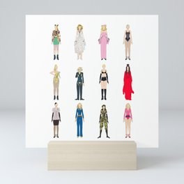 Outfits of Madge Fashion Mini Art Print