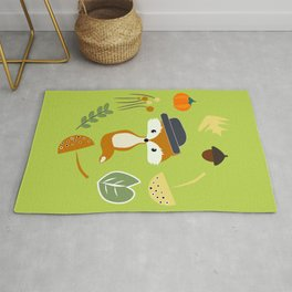 Cute fox in autumn II Rug