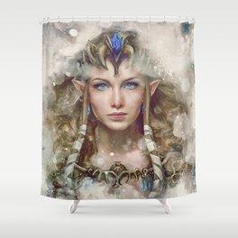 Epic Princess Zelda from Legend of Zelda Painting Shower Curtain