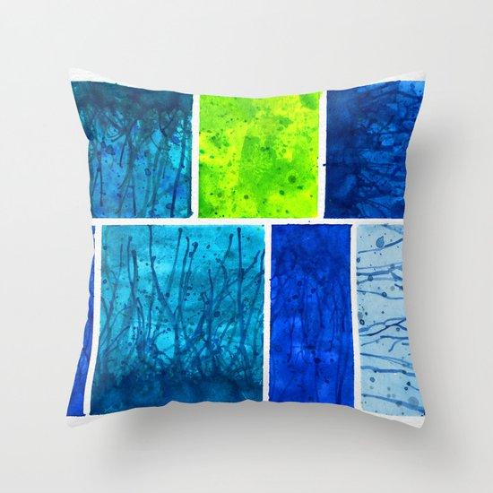 Blue Block Throw Pillow