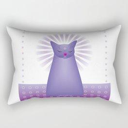 Milk Bottle Cat : Zen Rectangular Pillow