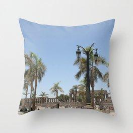 Temple of Luxor, no. 22 Throw Pillow