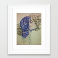 tarot Framed Art Prints featuring TAROT by Amy Shaver