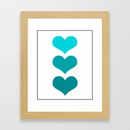 Hearts Trio Framed Art Print