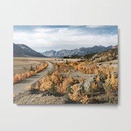 Fall Yukon Valley Metal Print