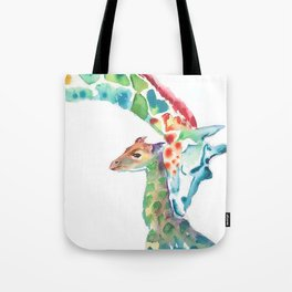 Mummy and Baby Giraffe College Dorm Decor Tote Bag