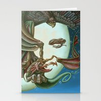 elvis presley Stationery Cards featuring Elvis Presley by Victor Molev