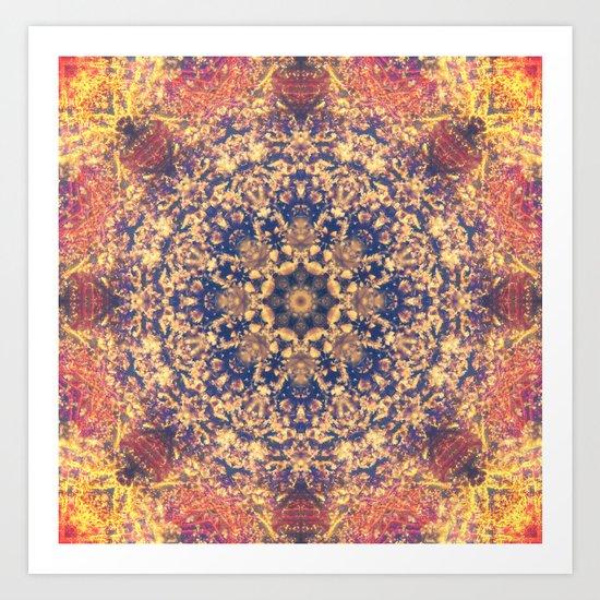 Distant Clouds Mandala Art Print