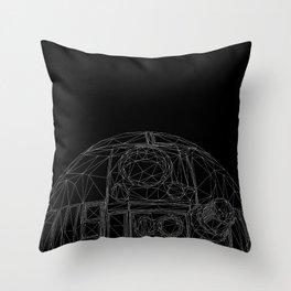 R2-SP4C3-R0B0T-D2 Throw Pillow