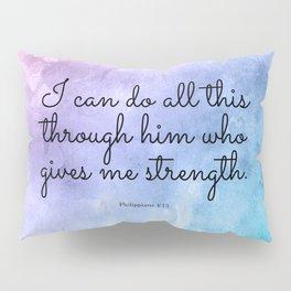 Philippians 4:13, Inspiring Bible Verse Pillow Sham