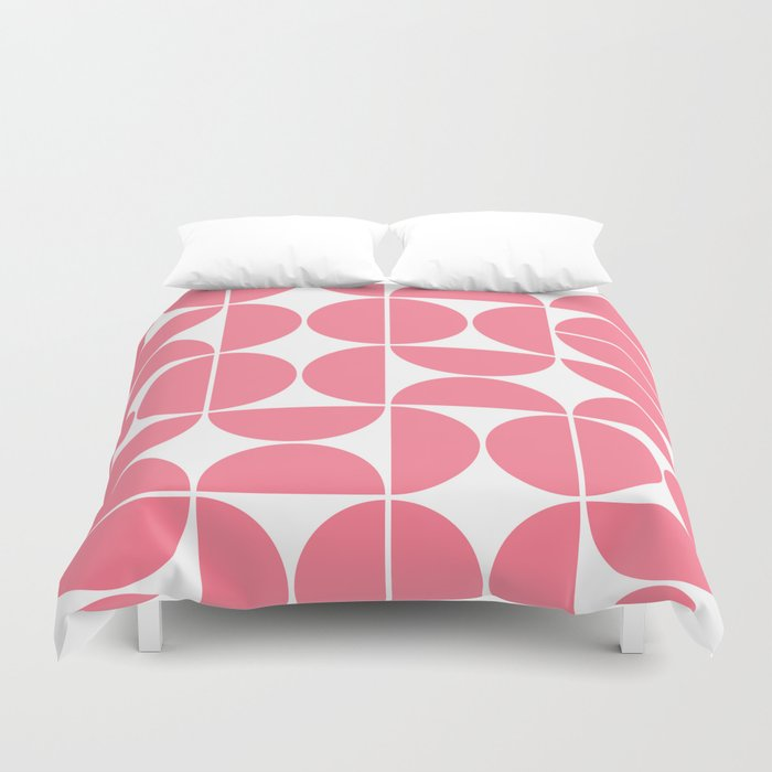 Mid Century Modern Geometric 04 Pink Bettbezug