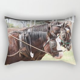 Clydesdales - Let's Go Rectangular Pillow