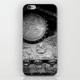 Ivan Caterpillar Track Black and White iPhone Skin