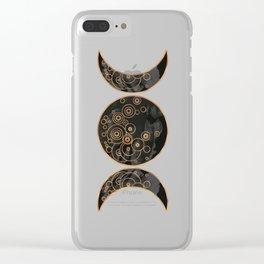 Triple Moon - Dark Side Clear iPhone Case