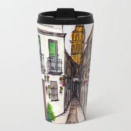 Calleja De Las Flores, Cordoba Spain Travel Mug