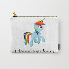 I Poop Rainbows Carry-All Pouch