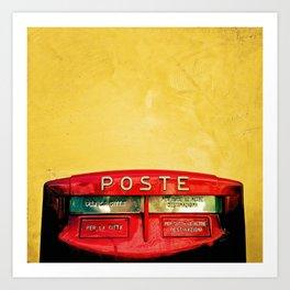 Italian postbox Art Print