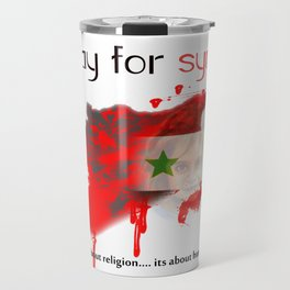 Pray for syria Travel Mug
