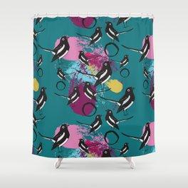 Magpie splash Shower Curtain