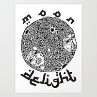 MOON DELIGHT Art Print