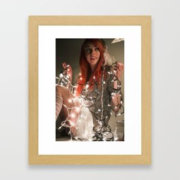 Mori Chirstmas lights Framed Art Print