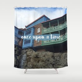 Once upon a time // #TravelSeries Shower Curtain