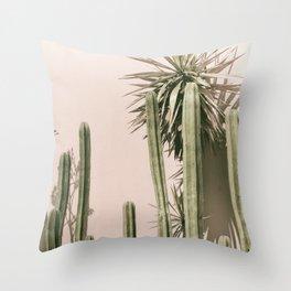 cactus art print Throw Pillow