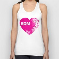 edm Tank Tops featuring EDM Heart by DropBass