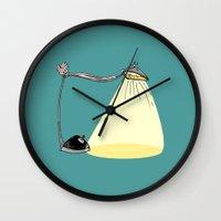 cartoon Wall Clocks featuring CARTOON LAMP by d.ts