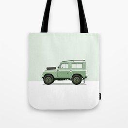 Car illustration - land rover defender Tote Bag