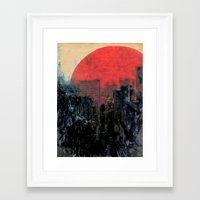 sunshine Framed Art Prints featuring Last Sunshine by Fernando Vieira
