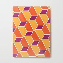 Warm Pattern Metal Print