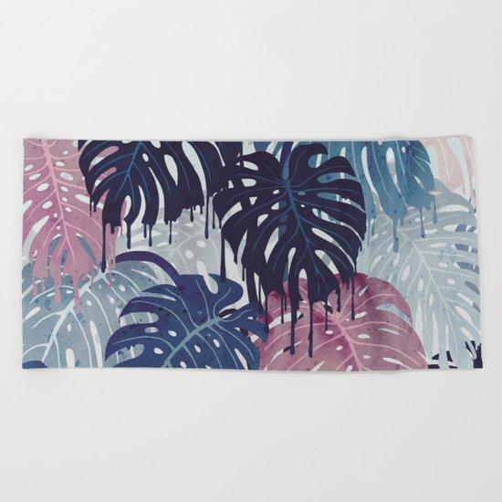 Monstera Melt Beach Towel