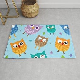 Owl Pattern Rug