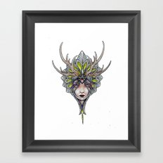 crowned girl Framed Art Print
