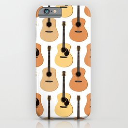 Acoustic Guitars Pattern iPhone Case