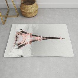 pariS Black & White + Pink copyright 2sweet4wordsDesigns Rug