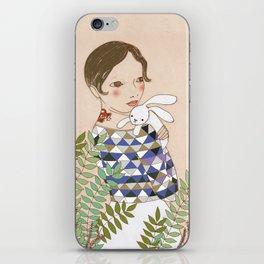 Spring bunny iPhone Skin