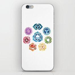 Yoga Art, Chakra, Namaste Wall Art, 8 Chakras iPhone Skin